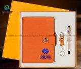Angepasst stellte das Gravieren Art A5 des Papier-Briefpapier-Protokoll-Notizbuch-Geschenks PU-ledernen Ofiice mit Feder ein