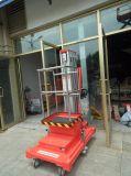 Tabella di elevatore mobile dell'uomo dell'albero di funzionamento di alta qualità di prezzi bassi dell'uomo della piattaforma aerea di alluminio dell'elevatore singola
