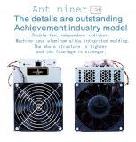 電源のMining L3+ Bitcoinの新しいAntminer L3+ 504m/800W 1.6j/Mh Litecoin抗夫の中佐