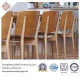 Уютный отель деревянная мебель для столовой со стульями (YB-B-35)