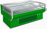 Ilha de Supermercados Autodescongelação congelador com portas de vidro de correr (RG-15G)