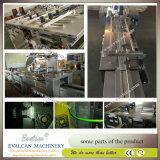 Máquina horizontal semiautomática del abrigo del flujo