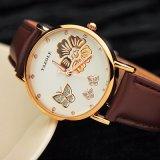 Z343 여자 시계 형식 우연한 석영 시계 가죽끈 시계