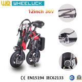 Более дешевые цены мини-электрический велосипед с 250W черного цвета электродвигателя