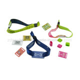 pulsera/Wristbands modificados para requisitos particulares 14443A de la tela NFC RFID