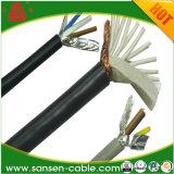 PVC insulté blindé à gaine PVC du câble de commande de Câble flexible LSZH