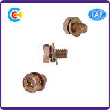 DIN и ANSI/BS/JIS Carbon-Steel/Stainless-Steel болты с шестигранной головкой шайбу Механические узлы и агрегаты M12 с шестигранной головкой комбинации с фланцем