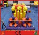 3 en 1 curso de obstáculo inflable 3 en 1 juego inflable