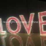 O design do coração de LED brilho das luzes do coração decoração Comercial ao ar livre