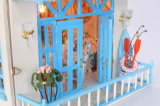 DIY Wooden Doll House with Education Toys