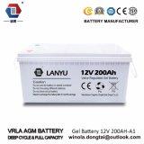 鉛酸蓄電池12V 200ahの太陽ゲル電池かLanyu200A001