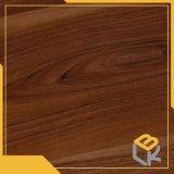 Papel impregnado melamina decorativa de madera del grano de la teca para los muebles, guardarropa del fabricante chino