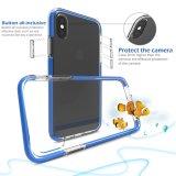 青い二重層のゆとり柔らかい透過TPUの影響の低下のiPhone8のための保護携帯電話の箱
