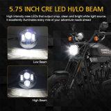 ジープのための極度の明るい40W 5.75インチLEDのオートバイのヘッドライト