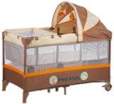 고품질 두번째 층 아기 갓난아이 놀이터 여행 간이 침대 아기 어린이 침대 유럽 기준 갓난아이 놀이터