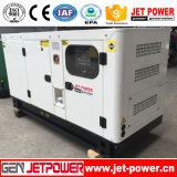 40kVA de 30kw Gabinete sonido Generador Diesel con Ruedas móviles Trailer