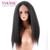 Kinky Cabello brasileña de encaje peluca frontal recto 360