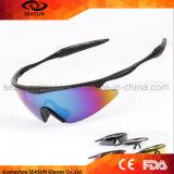 Enrouler personnalisé autour de la nuit jaune de lunetterie de sport en plein air de vision nocturne de lentille de lunettes de soleil de sport pilotant des glaces