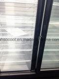 流行のスライドガラスドアビールクーラー/商業直立した飲料冷却装置