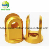 Золотистый анодировать для рукоятки разъема частей CNC подвергая механической обработке