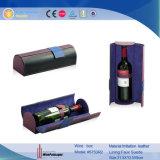 Singolo contenitore di regalo di cuoio di lusso all'ingrosso di memoria del vino di Boxttle (5753)