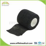 Fasciatura coesiva di sport elastico non tessuto Lattice-Libero del cotone medica