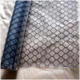 Conductiva transparente de rejilla de PVC negro Hoja de cortina