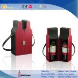 Directa de Fábrica de cuero de PU de lujo personalizado cajas de vino al por mayor (5735)