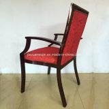 Armrestの椅子の肘掛け椅子(JY-F55)を食事しているホテルのレストランのゲスト