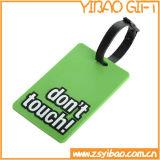 Étiquette en caoutchouc molle de bagage de PVC de qualité pour le cadeau promotionnel
