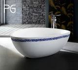 鋳造物の販売のための石造りの固体表面の低価格のハート形の角の浴槽