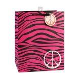 Sacos de papel coloridos do presente diário listrado das necessidades das sapatas da roupa de forma