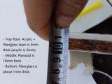 """"""" X36/40 """" X40 """" da bandeja 36 acrílicos """" do chuveiro com os 3 bordos para Cupc norte-americano certificado"""