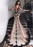 Mermaid Party PROM Gown Vestidos Black Laces Evening Dress P14715