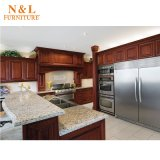 N & L gabinete de cozinha moderno americano da madeira contínua do Poplar