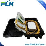 FTTH 2 en 2 en línea de fibra óptica empalme divisor de clausura