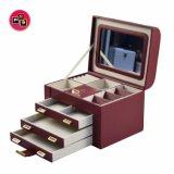 スタックを用いる機能構成されたマルチ層の木の宝石類の収納箱ベルト(8765)の