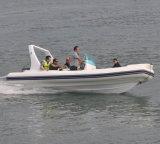Liya 5.8mの19feet中央コンソールの漁船の堅く膨脹可能なボート