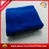 青いカラー薄い印刷のロゴ毛布