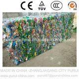 Bottiglie residue dell'animale domestico che riciclano riga di lavaggio