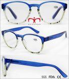 2017 новой моды пластмассовые очки считывания с красочными рамы (WRP704980)