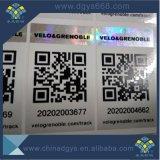 Barcode-Zahl-Silber-Hologramm-Laser-Aufkleber kundenspezifisch anfertigen