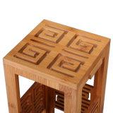 Natürlicher Retro Entwurf karbonisiertes Bambusgeschenk, das Rotwein-Kasten verpackt