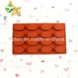 100% moulages ovales de silicones des silicones 16-Cavity de catégorie comestible pour le chocolat
