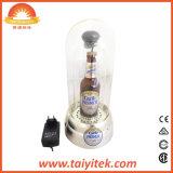 Dekoratives Glasfarbton-Bierflasche-Nachttisch-Licht