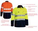 2 Tone Hi-Vis sécurité à court et vêtements de travail vêtements à manches longues Tee-shirt