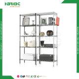 Rack de armazenamento de unidades de wiring closet Ajustar estantes fio cromado