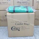 Bouteille de vin vert promotionnel Tote isolés des sacs de refroidisseur de livraison de nourriture pour le camping