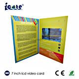 Buon prezzo libretto del Opuscolo-Video dell'affissione a cristalli liquidi da 7 pollici video per il commercio