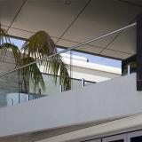 Inferriata di vetro di Frameless dell'inferriata di vetro del morsetto dell'acciaio inossidabile di disegno moderno